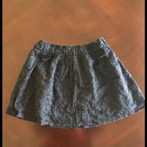 A&F Navy Lace Skirt